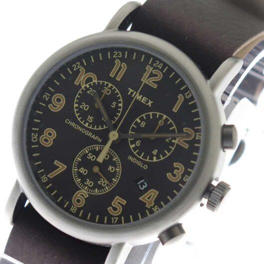 タイメックス TIMEX インディグロ INDIGLO クオーツ メンズ 腕時計 TW2P85400 ブラック/ダークブラウン ブラック