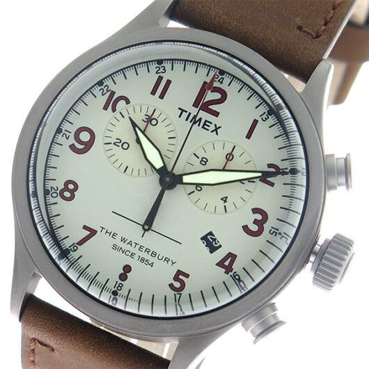 タイメックス TIMEX ウォーターベリー Waterbury クロノ クオーツ メンズ 腕時計 TW2R38300 グレー/ブラウン ベージュ