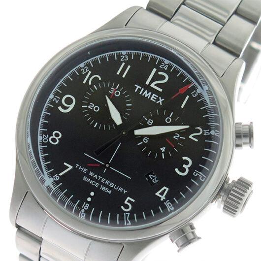 タイメックス TIMEX ウォーターベリー Waterbury クロノ クオーツ メンズ 腕時計 TW2R38400 ブラック/シルバー ブラック