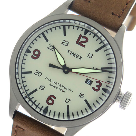 タイメックス TIMEX ウォーターベリー Waterbury クオーツ メンズ 腕時計 TW2R38600 グレー/ブラウン グレー