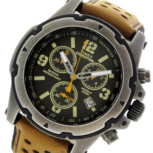 タイメックス TIMEX エクスペディション EXPEDITION クロノ クオーツ メンズ 腕時計 TW4B01500 ブラック ブラック