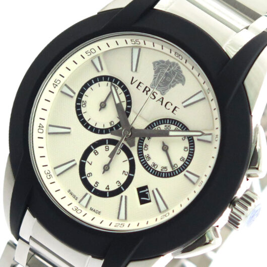 ヴェルサーチ VERSACE 腕時計 メンズ VEM800118 クォーツ オフホワイト シルバー ホワイト
