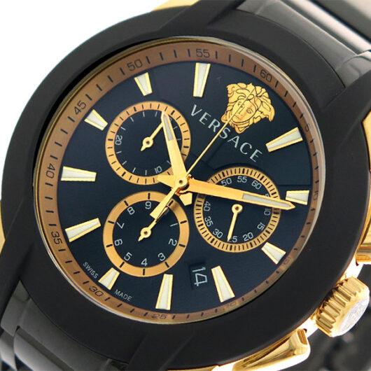 ヴェルサーチ VERSACE 腕時計 メンズ VEM800418 クォーツ ブラック ゴールド ブラック