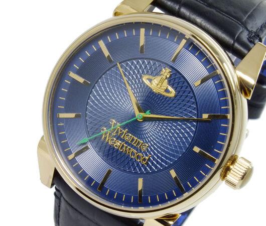 ヴィヴィアン ウエストウッド VIVIENNE WESTWOOD フィンズバリー クオーツ メンズ 腕時計 VV065NVBK ネイビー