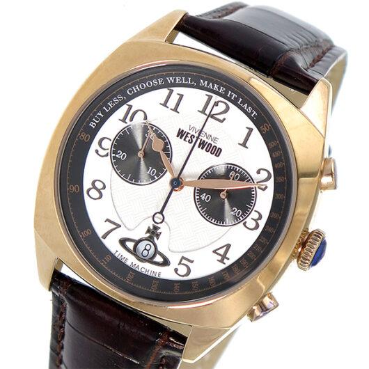 ヴィヴィアン ウエストウッド VIVIENNE WESTWOOD  クオーツ メンズ 腕時計 VV176WHBR ホワイト ホワイト