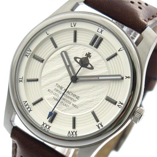 ヴィヴィアンウエストウッド VIVIENNE WESTWOOD 腕時計 メンズ VV185SLBR クォーツ ホワイトシルバー ブラウン ホワイトシルバー