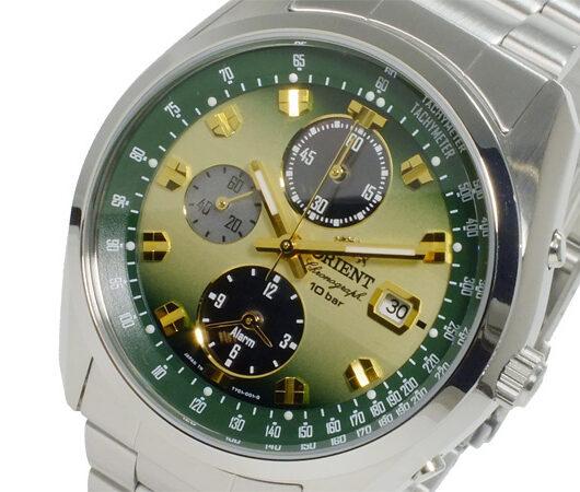 オリエント ORIENT Neo70's ソーラー クロノ メンズ 腕時計 WV0021TY 国内正規 グリーン