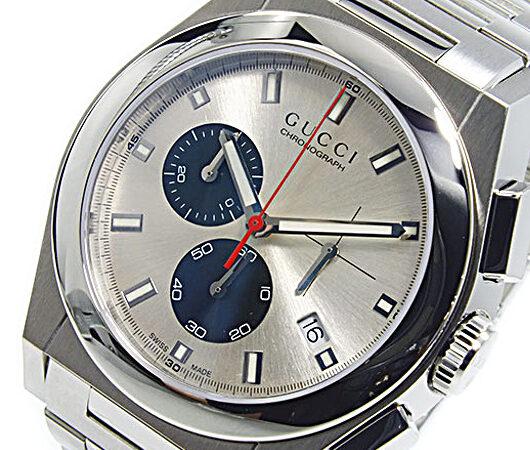 グッチ GUCCI パンテオン PANTHEON クオーツ メンズ腕時計 YA115236 シルバー