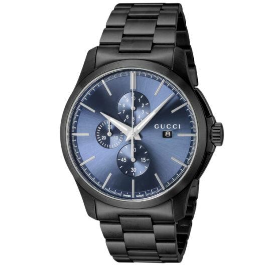 グッチ GUCCI Gタイムレス クロノ クオーツ メンズ 腕時計 YA126275 ブルー ブルー