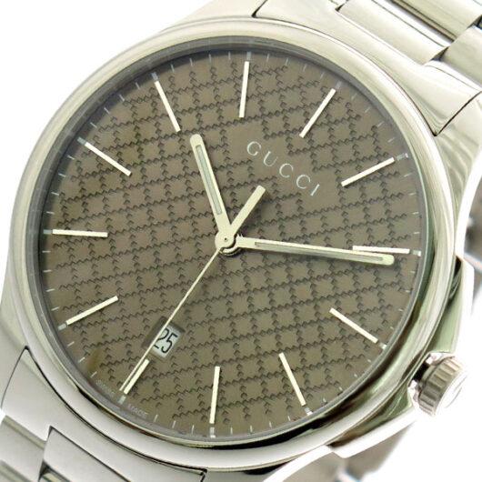 グッチ GUCCI 腕時計 メンズ YA126317 クォーツ シャンパンゴールド シルバー シャンパンゴールド