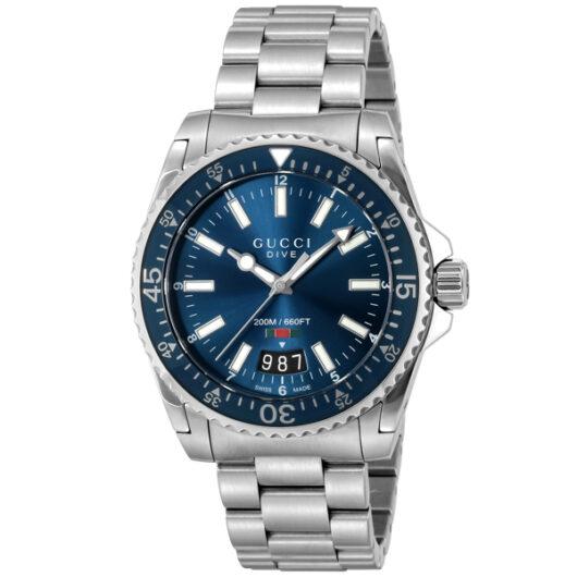 グッチ GUCCI DIVE クオーツ メンズ 腕時計 YA136311 ブルー ブルー