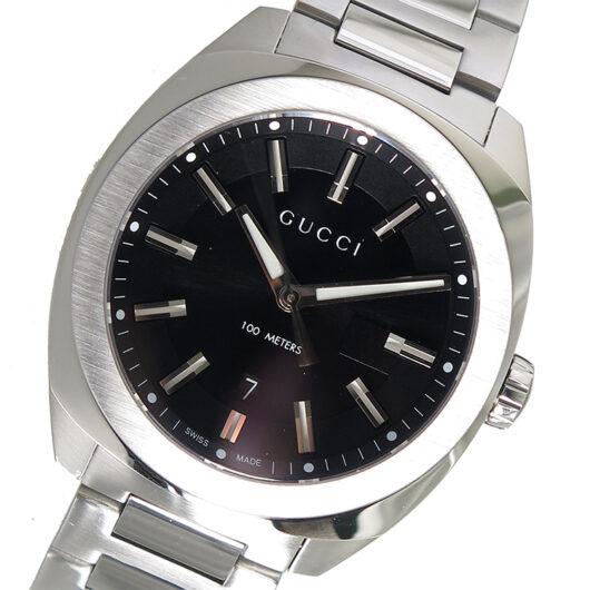 グッチ GUCCI GG2570 クオーツ メンズ 腕時計 YA142301 ブラック ブラック