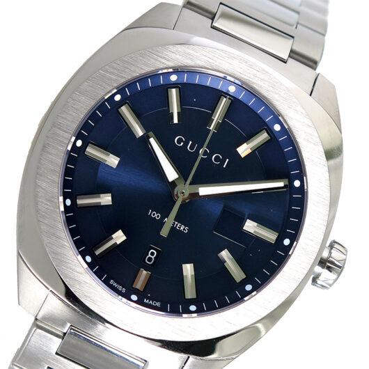 グッチ GUCCI GG2570 クオーツ メンズ 腕時計 YA142303 ネイビー ネイビー