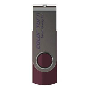 USB2.0 64GB Team 型番 TG064GE902VX フラッシュメモリー 回転式USBを採用 キャップレス COLOR TURN(E902) パープル 保証1年