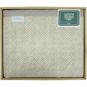 洗える綿混ウール毛布(毛羽部分) L4011038