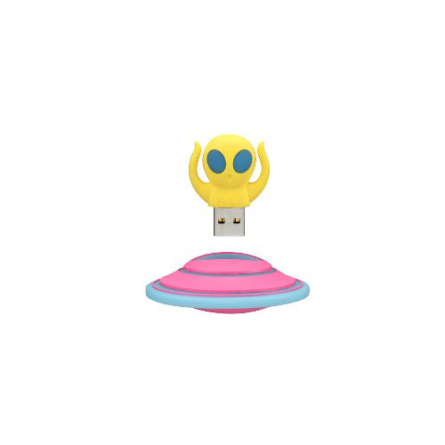 GREENHOUSE 宇宙人形USBメモリ 8GB イエロー GH-UFDAL8G-YL