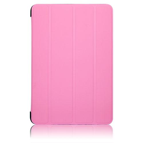 ブライトンネット iPadmini2012用ラバーコーティングロールスタンドケース ピンク BI-PADMRCASE/P