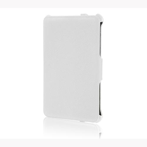 ブライトンネット MeMO Pad HD7用レザースタンドケース ホワイト BM-HD7FLSTD/WH