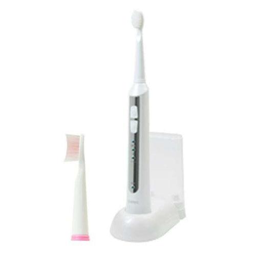 DRETEC 音波式電動歯ブラシ 高速振動と選べる振動モードでしっかり磨ける ホワイト TB-500WT