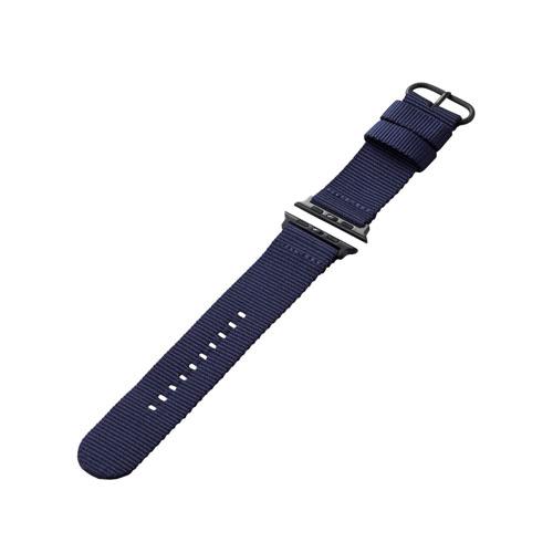 エレコム Apple Watch 44 42mm ファブリックバンド ブルー AW-44BDNATBU