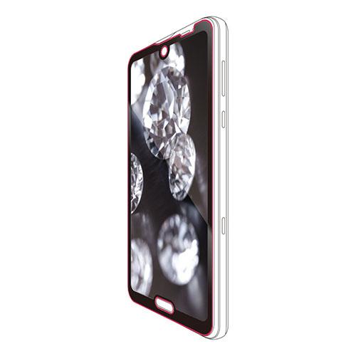 エレコム AQUOS R3 フルカバーガラスフィルム セラミックコート ブラック PM-AQR3FLGGCRBK