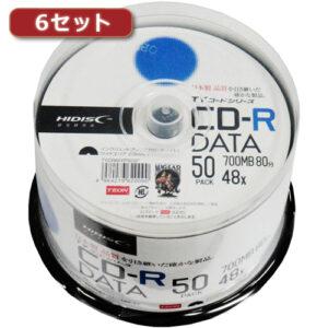 6セットHI DISC CD-R(データ用)高品質 50枚入 TYCR80YP50SPX6