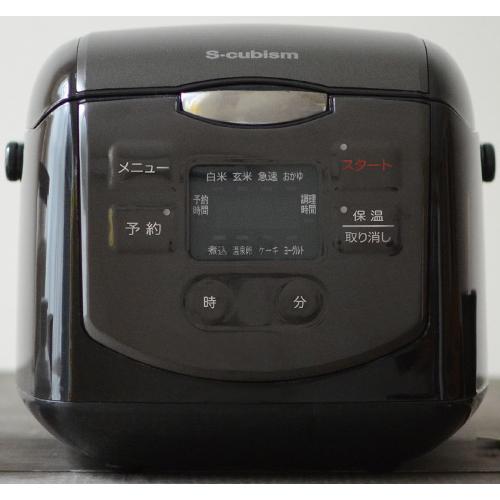 エスキュービズム 4合炊きマイコン式炊飯器 ブラック SCR-H40B