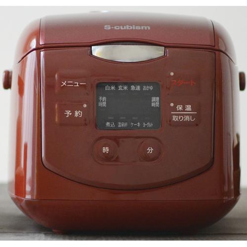 エスキュービズム 4合炊きマイコン式炊飯器 レッド SCR-H40R