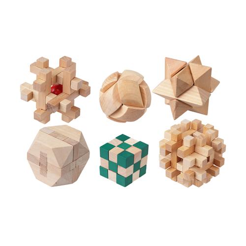 キヨラカ 木製パズル6個セット やわらかあたま君 MO-P01
