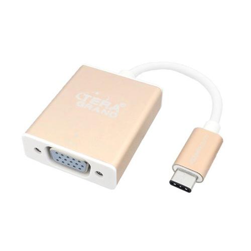 テック Tera Grand USB3.1 TypeC-VGA変換アダプタ USBからVGAコネクタへ変換 USB31-TE298-GD