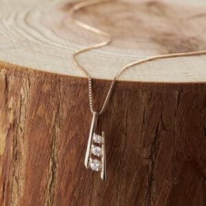 ピンクゴールドダイヤモンドペンダント K91311610