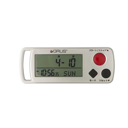 GRUS 歩幅・心拍計測 歩数計 時計機能付 GRS002-02