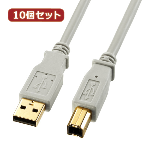 10個セット サンワサプライ USB2.0ケーブル KU20-06HK KU20-06HKX10