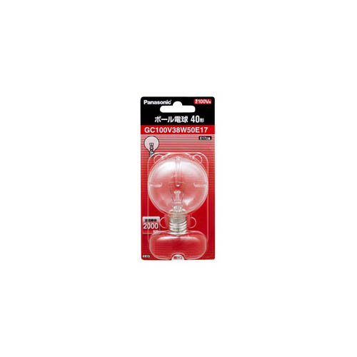 25個セット Panasonic ボール電球40W形クリア GC100V38W50E17X25