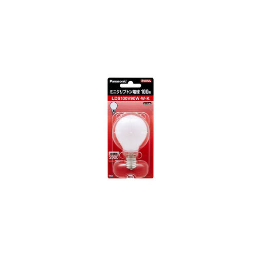12個セット PANASONIC ミニクリプトン電球100W形ホワイト LDS100V90WWKX12