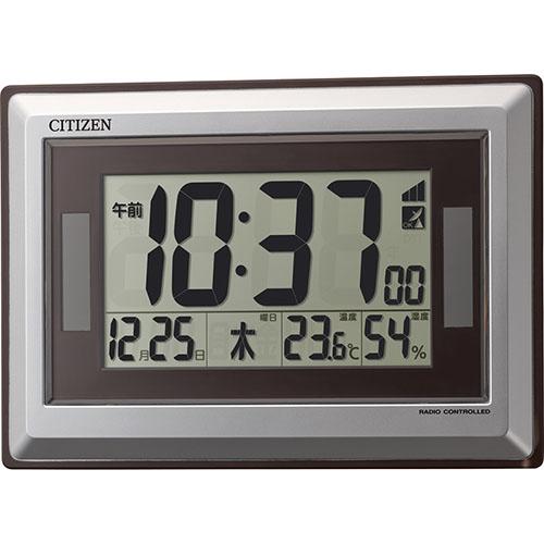 温度・湿度表示ソーラー電源電波時計 C1062118