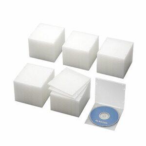 エレコム Blu-ray/DVD/CDケース(スリム/PP/1枚収納) CCD-JPCS100CR