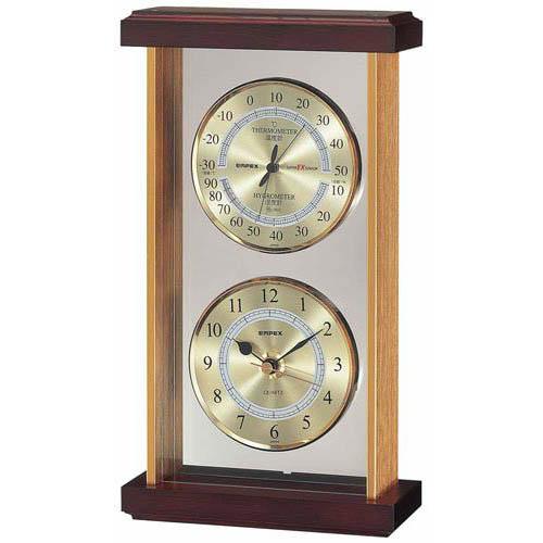 EMPEX  スーパーEX 温・湿度・時計 EX-742 ゴールド