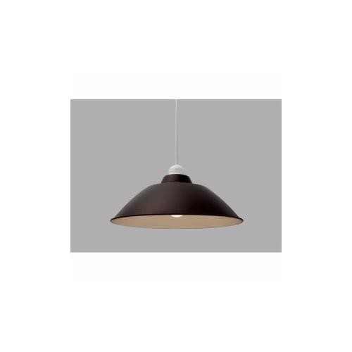アイリスオーヤマ LEDペンダントライト LED電球セット Gammel Plas ホーロー調 Mサイズ ブラウン PL8LE26PE1T