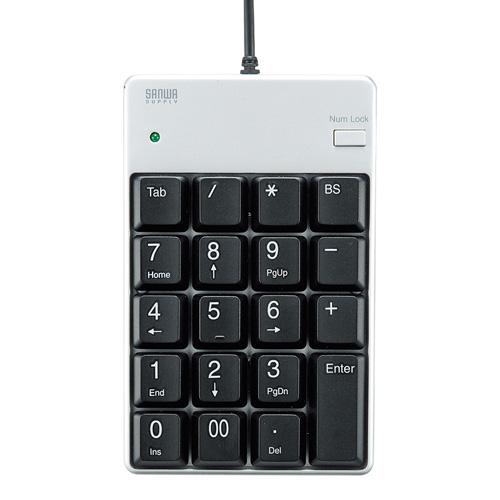 サンワサプライ USB2.0ハブ付テンキー NT-17UH2PKN