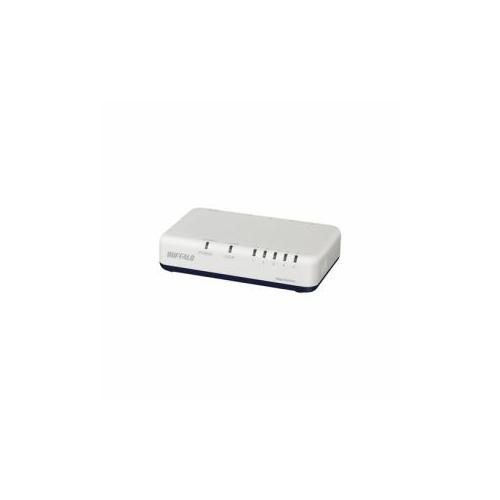 BUFFALO Giga対応 スイッチングハブ 5ポート ホワイト LSW6-GT-5EP/WH