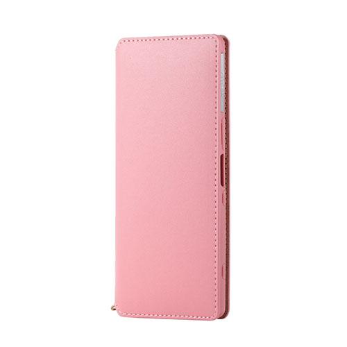 エレコム Xperia 1 ソフトレザーケース 磁石付 ピンク PM-X1PLFY2PN