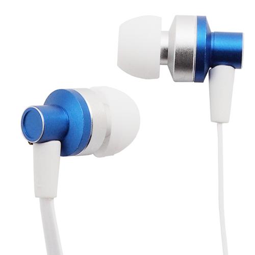 イヤホン マイク付き カナル型 スマートフォン対応 ブルー AS-CAMU001