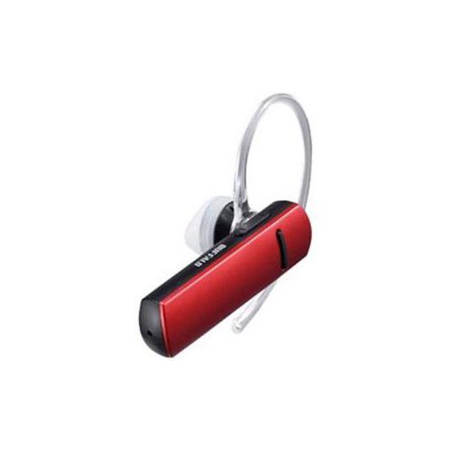 BUFFALO バッファロー Bluetooth4.0対応 片耳ヘッドセット 音声&通話対応 レッド BSHSBE200RD