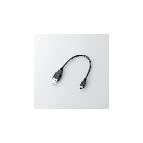 エレコム USB2.0ケーブル(A-mini-Bタイプ) U2C-GMM025BK