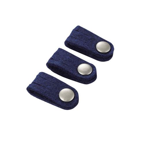 エレコム ケーブルホルダー ボタンクリップホルダー Sサイズ ブルー EKC-CBFSBU