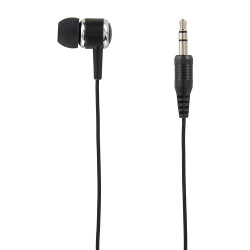 YAZAWA カナル型片耳イヤホン1Mステレオプラグ ブラック  TMS1061BK