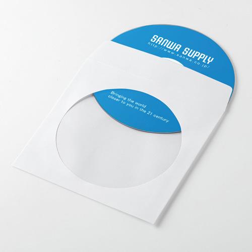 サンワサプライ DVD・CDペーパースリーブケース FCD-PS50WN