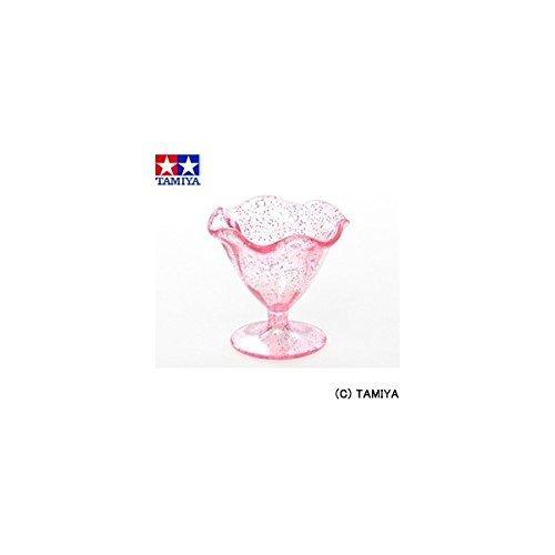 タミヤデコレーションミニチュア食器(ピンクラメのパフェグラス)